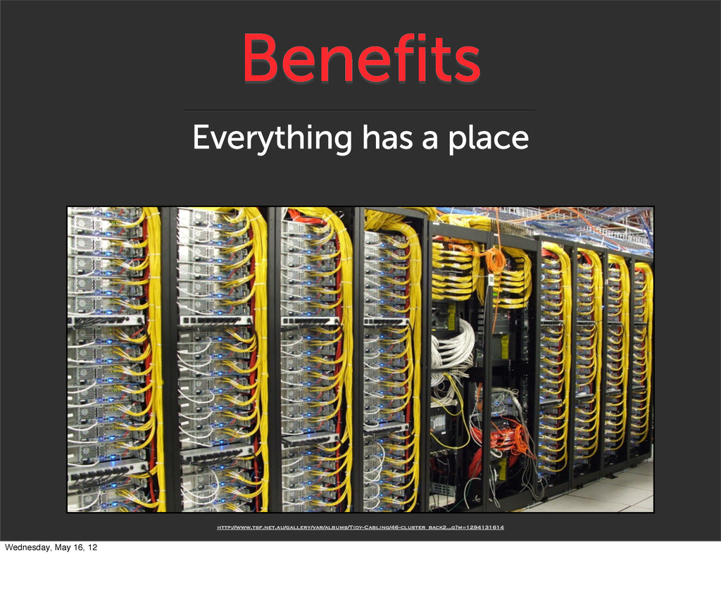 Benefits Everything has a place http://www.tsf....