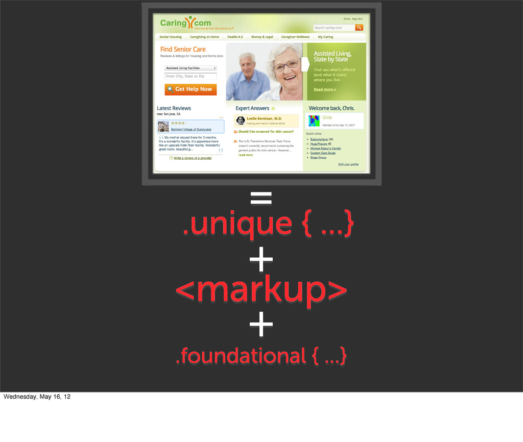 + <markup> .unique { ...} = .foundational { ......