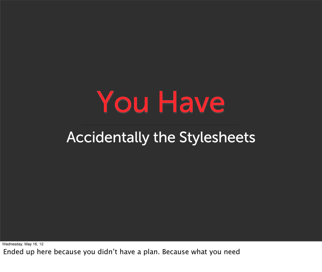 You Have Accidentally the Stylesheets Wednesday...