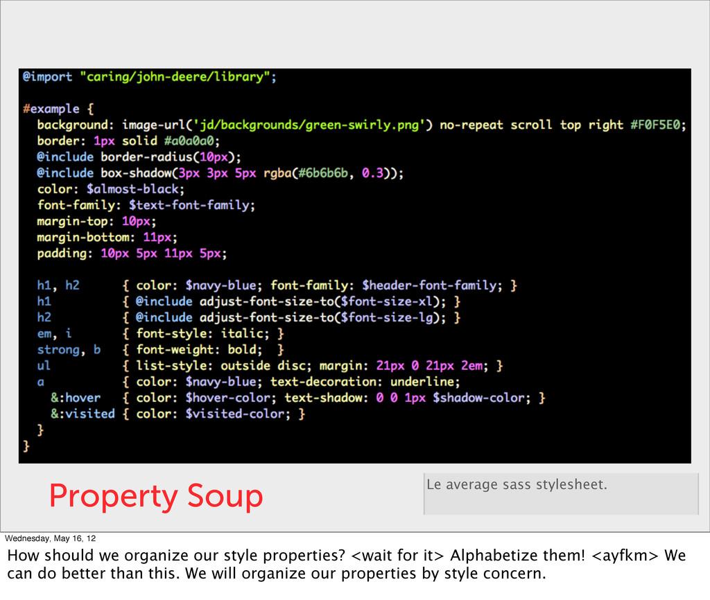 Property Soup Le average sass stylesheet. Wedne...
