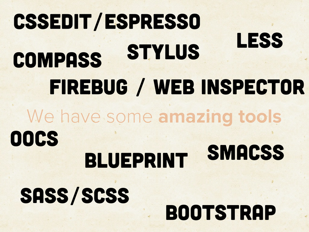We have some amazing tools CSSEdit/Espresso SMA...