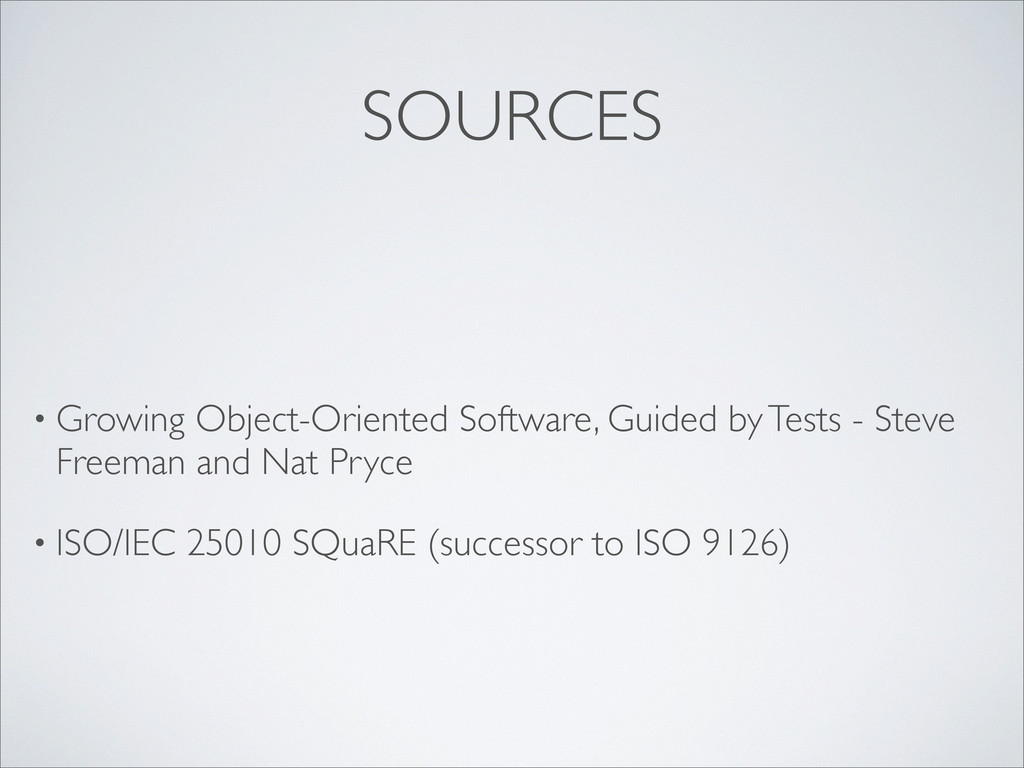 SOURCES • Growing Object-Oriented Software, Gui...