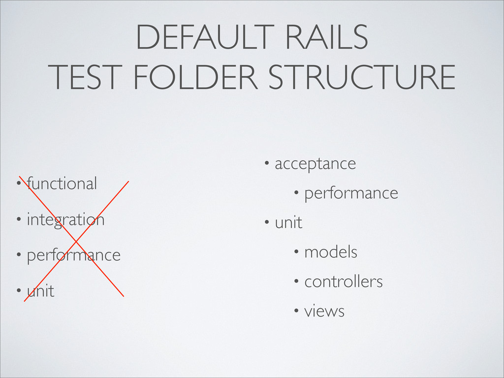 DEFAULT RAILS TEST FOLDER STRUCTURE • functiona...