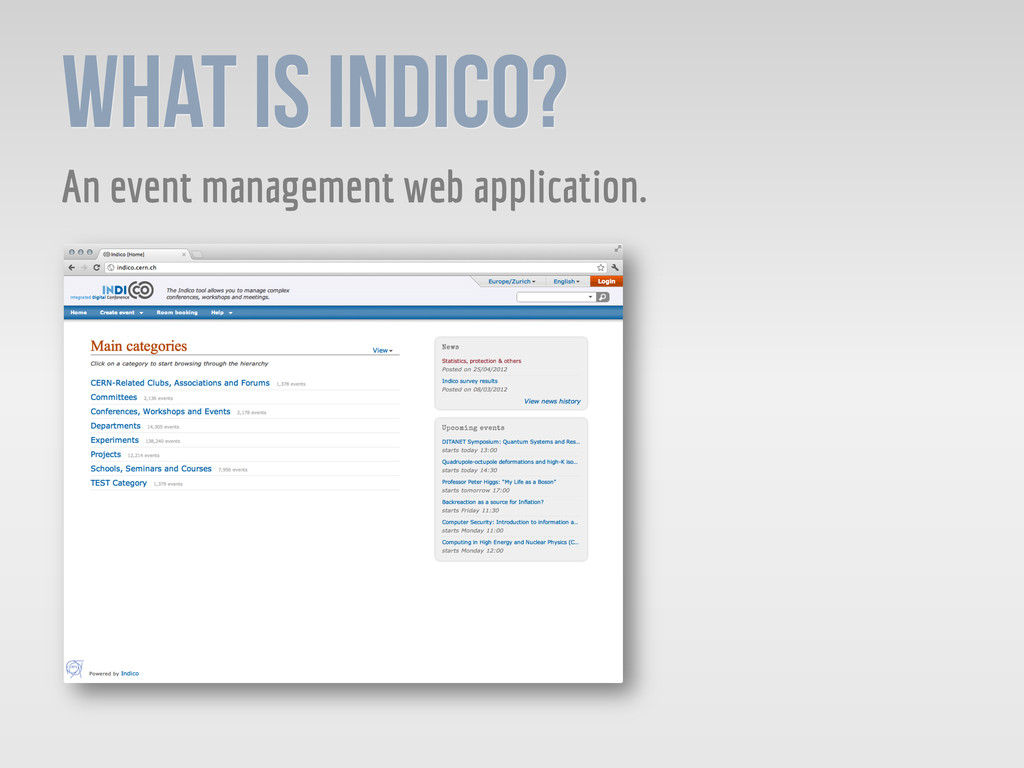 What is Indico? An event management web applica...