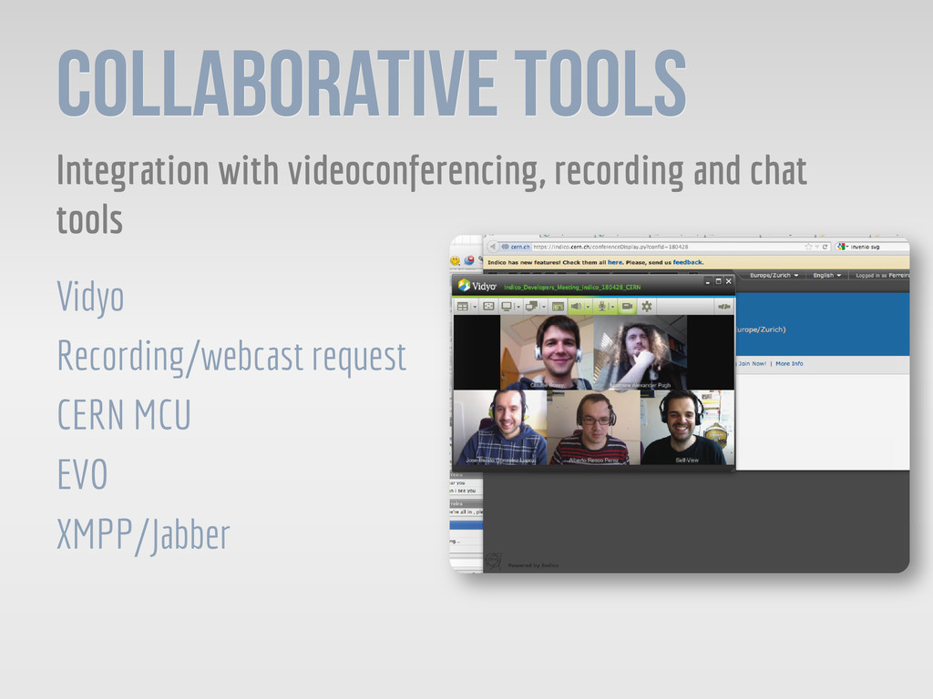 Collaborative Tools Integration with videoconfe...