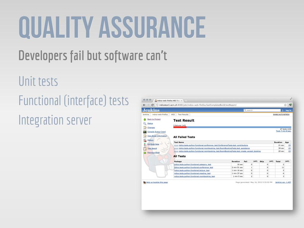 Quality Assurance Developers fail but software ...
