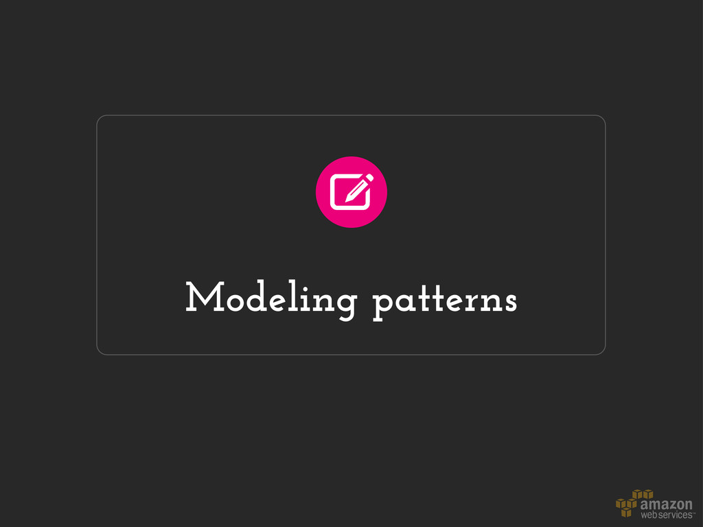 Modeling patterns