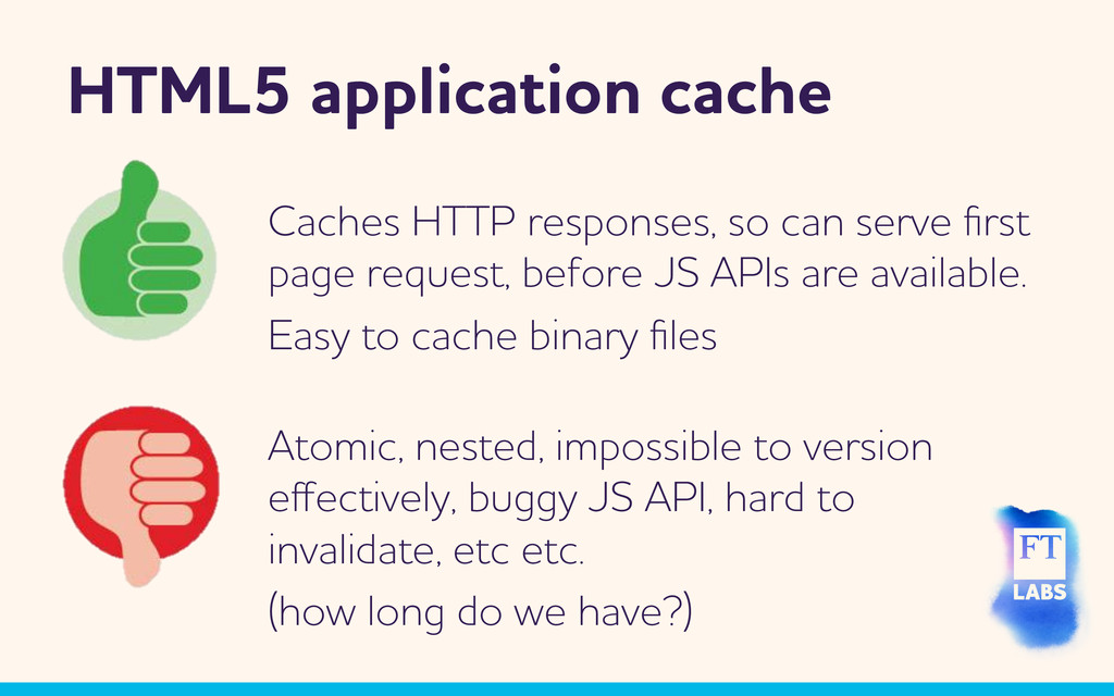 HTML5 application cache tomic, nested, impossi...