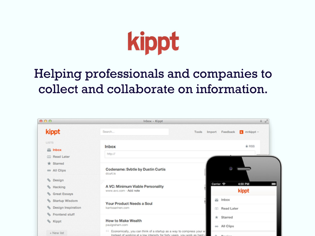 Helping professionals and companies to collect ...
