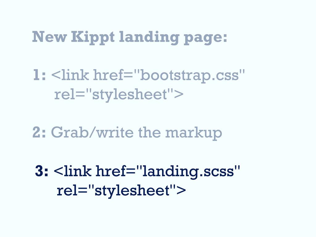 "New Kippt landing page: 1: <link href=""bootstra..."