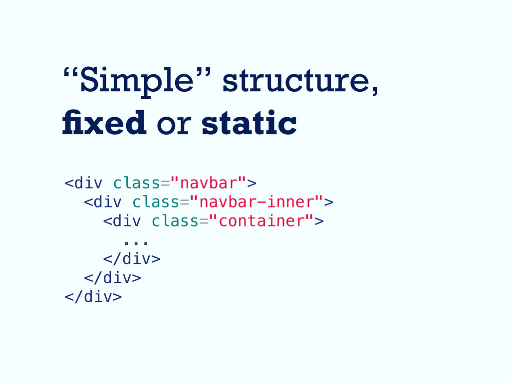 """Simple"" structure, xed or static <div class=""n..."