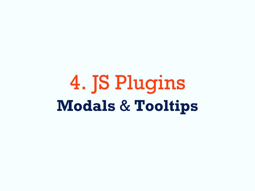 4. JS Plugins Modals & Tooltips