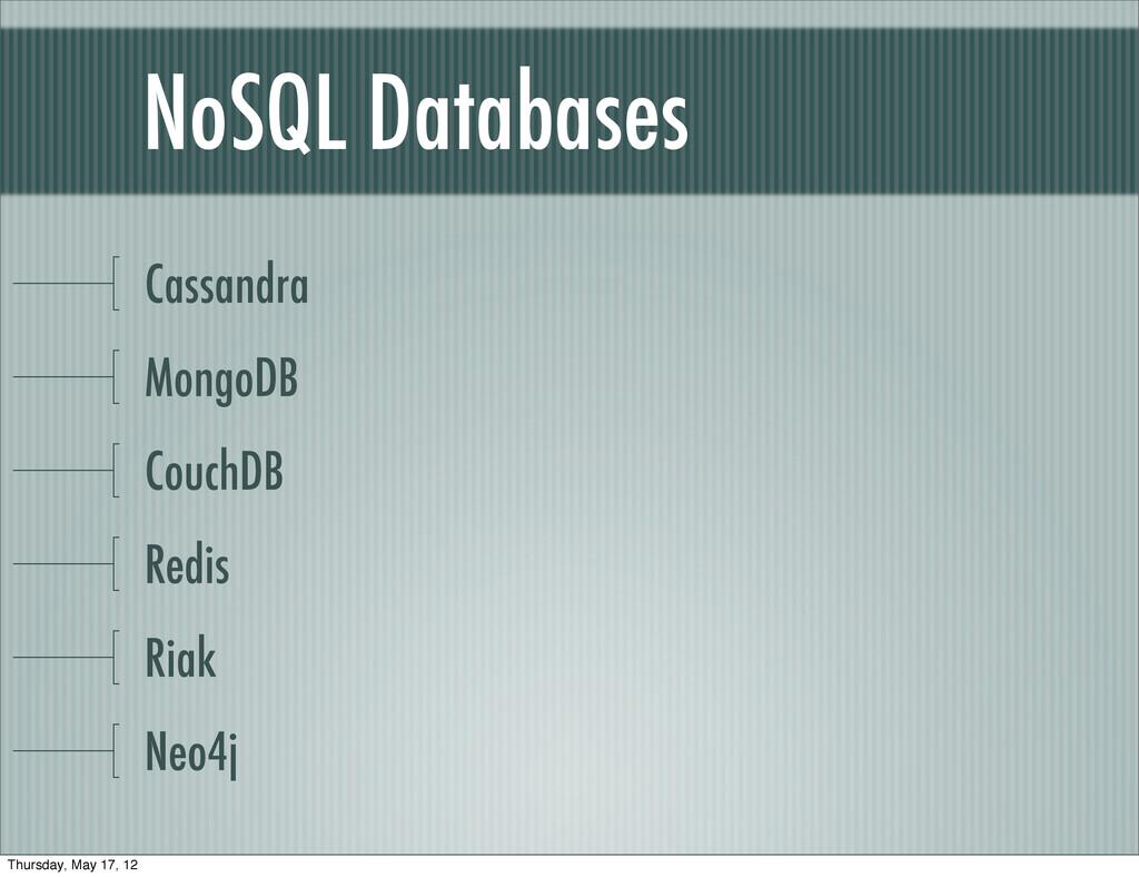 NoSQL Databases Cassandra MongoDB CouchDB Redis...