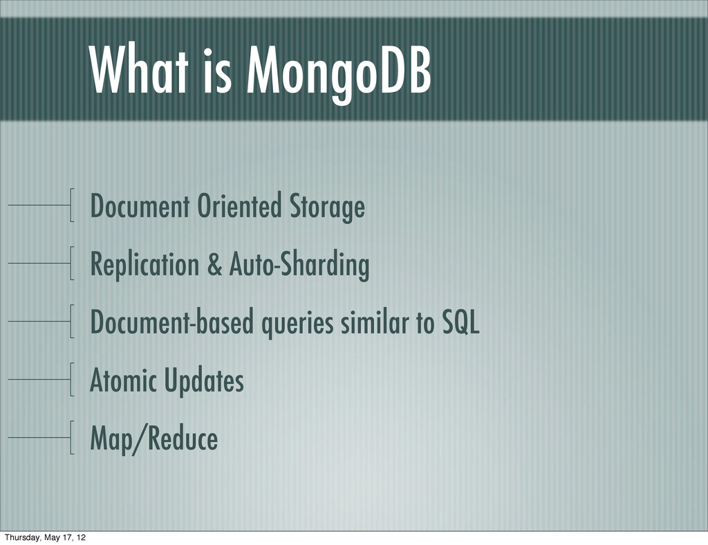 What is MongoDB Document Oriented Storage Repli...