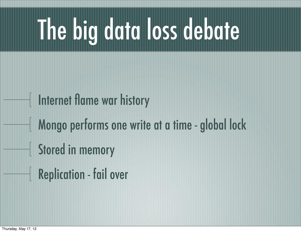 The big data loss debate Internet flame war hist...