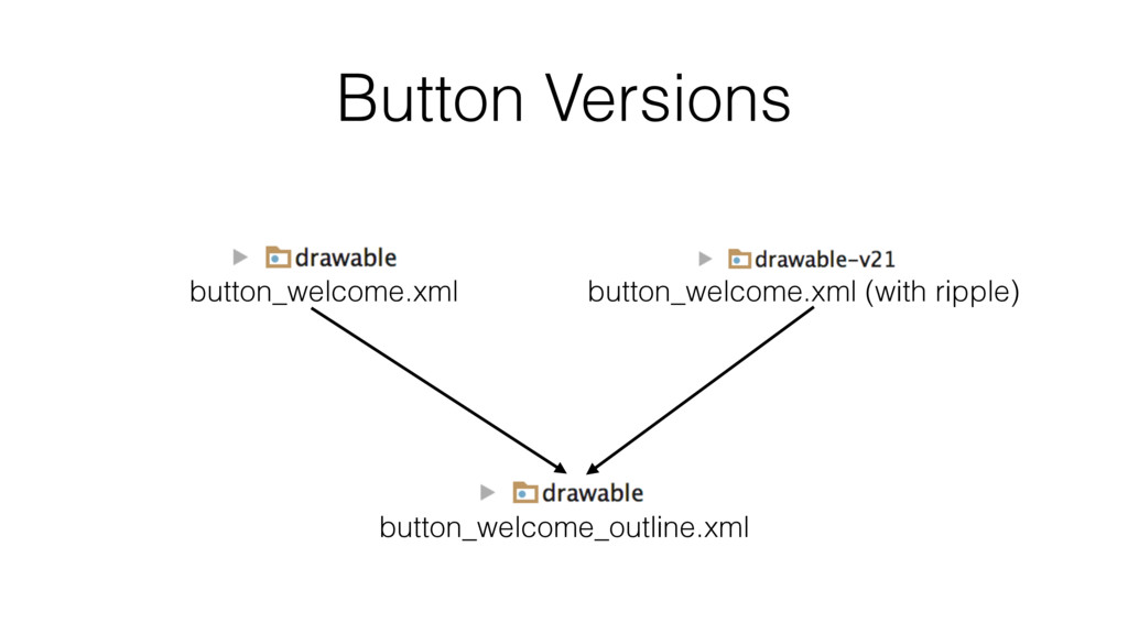 Button Versions button_welcome_outline.xml butt...