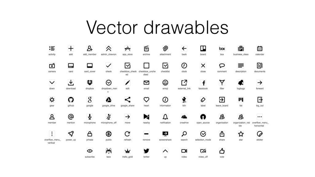 Vector drawables