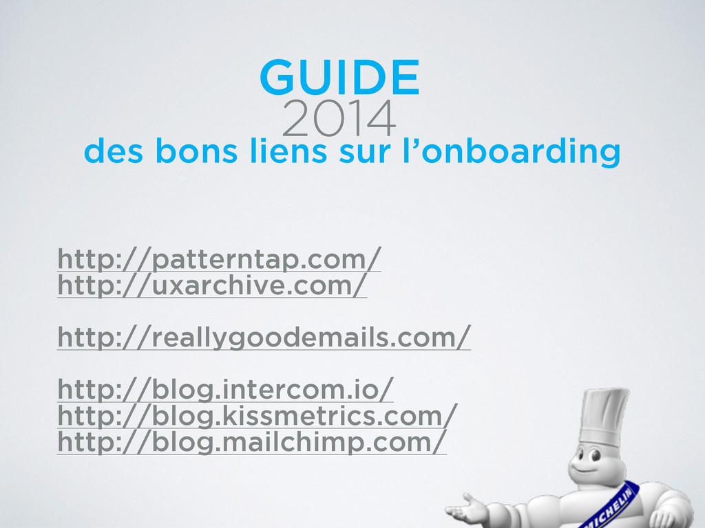 2014 GUIDE des bons liens sur l'onboarding http...