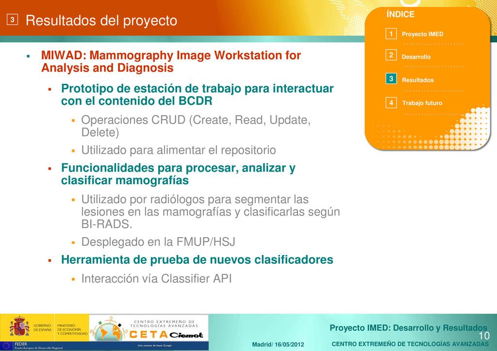 CENTRO EXTREMEÑO DE TECNOLOGÍAS AVANZADAS Proye...
