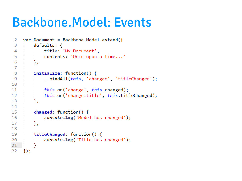 Backbone.Model: Events