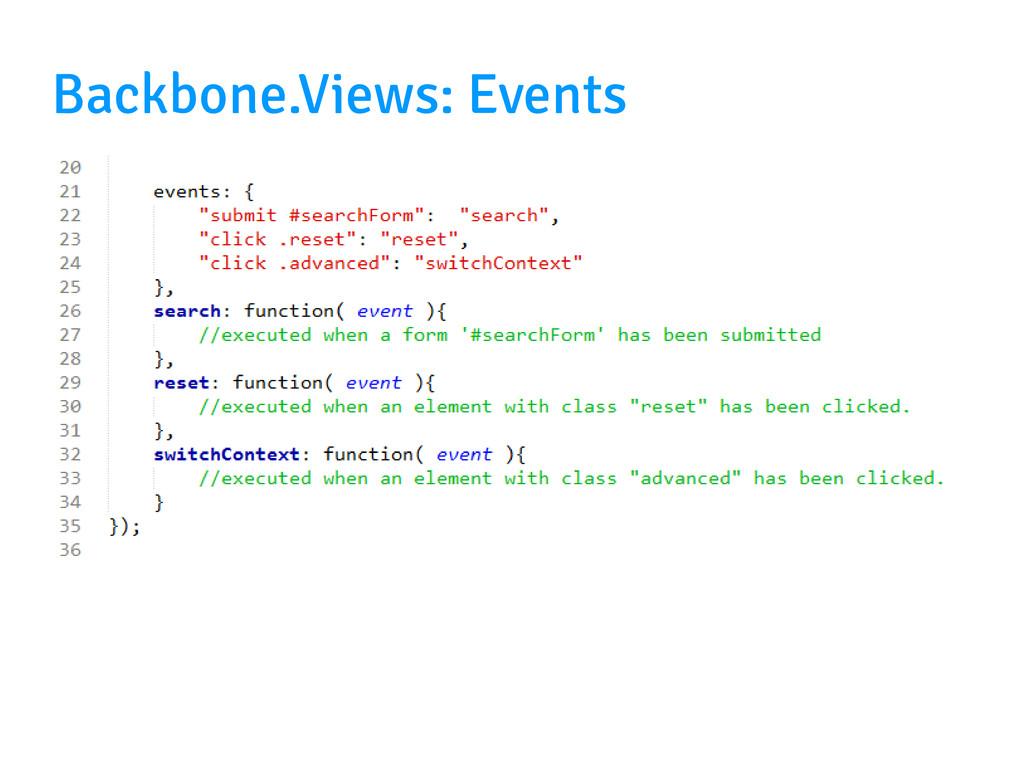 Backbone.Views: Events