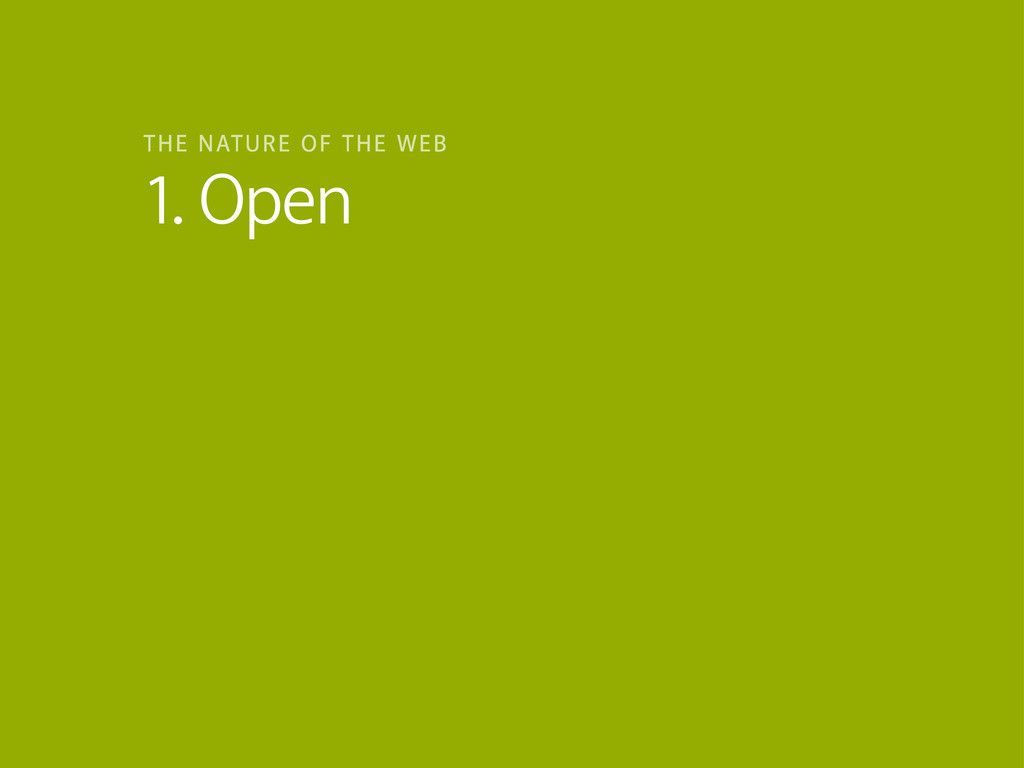 1. Open THE NATURE OF THE WEB