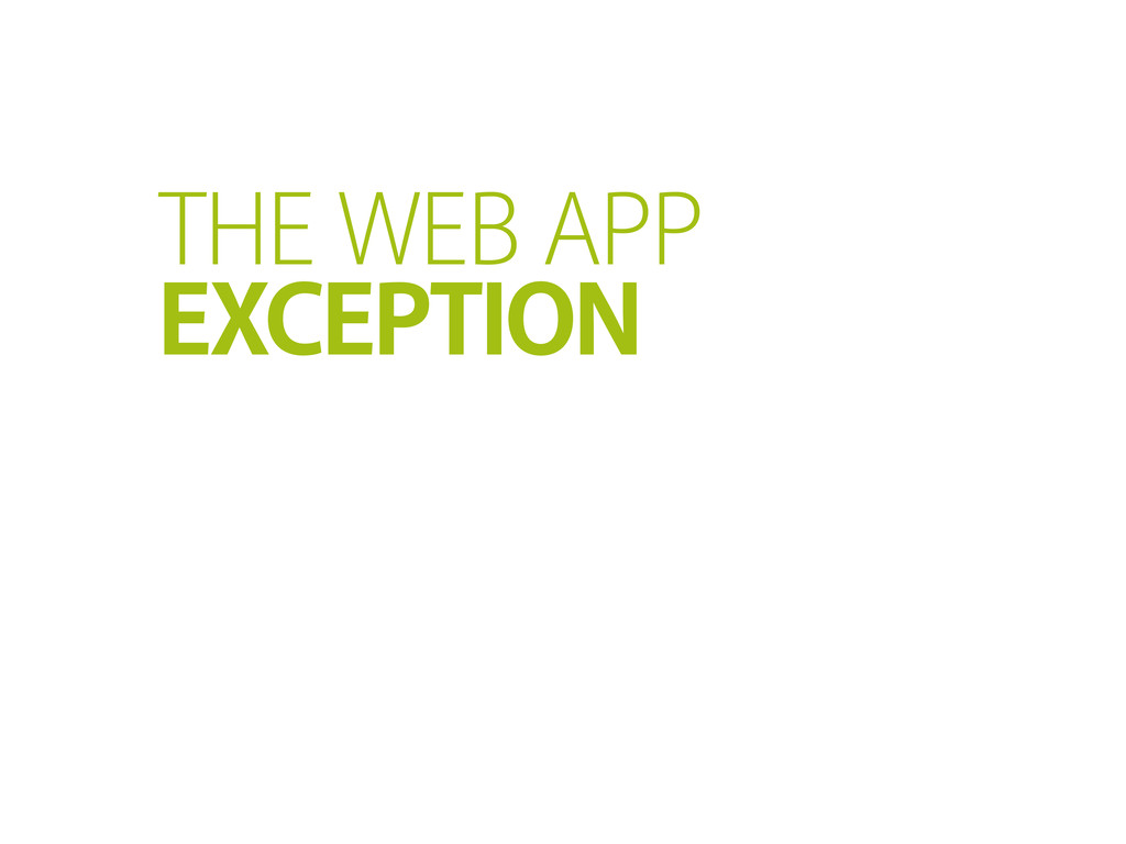 THE WEB APP EXCEPTION