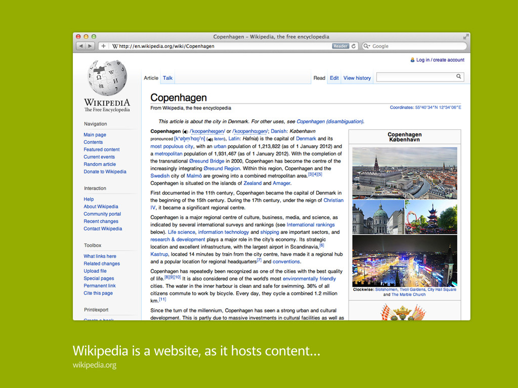 Wikipedia is a website, as it hosts content… wi...
