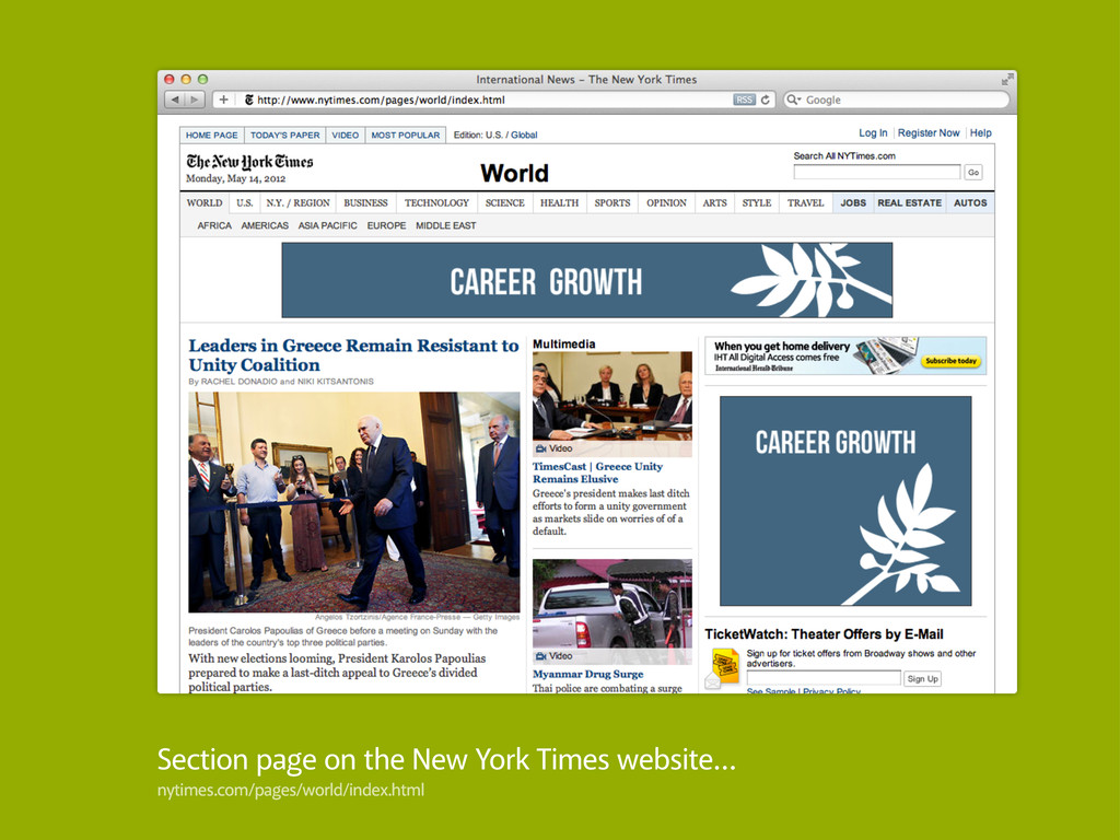 Section page on the New York Times website… nyt...