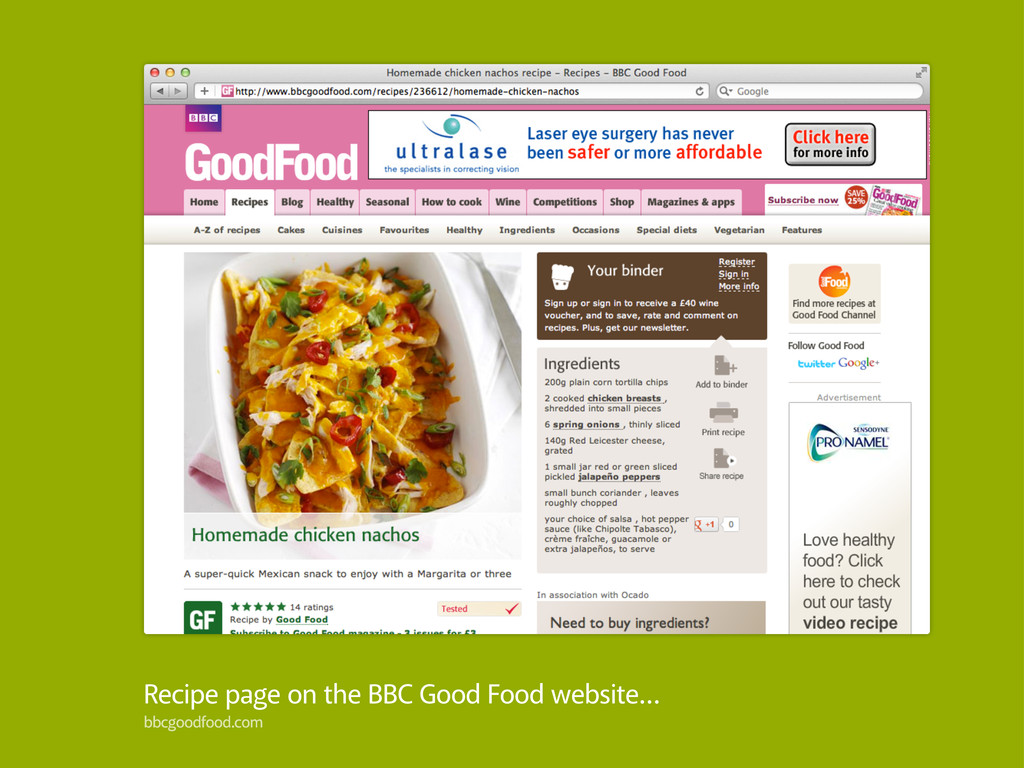 Recipe page on the BBC Good Food website… bbcgo...