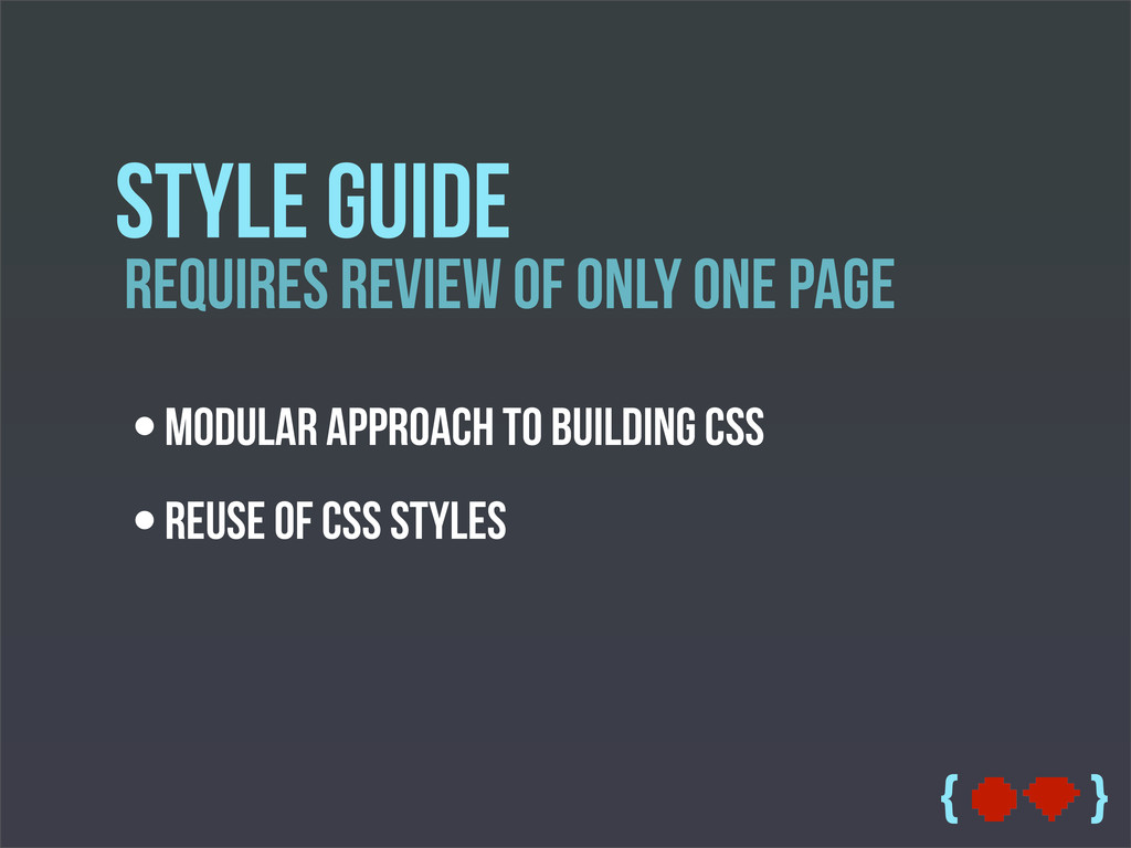 { } Requires Review Of only one page Style Guid...