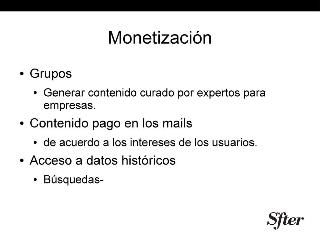 Monetización ● Grupos ● Generar contenido curad...