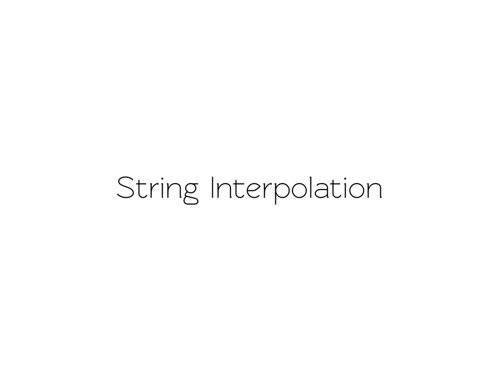 String Inerpolation