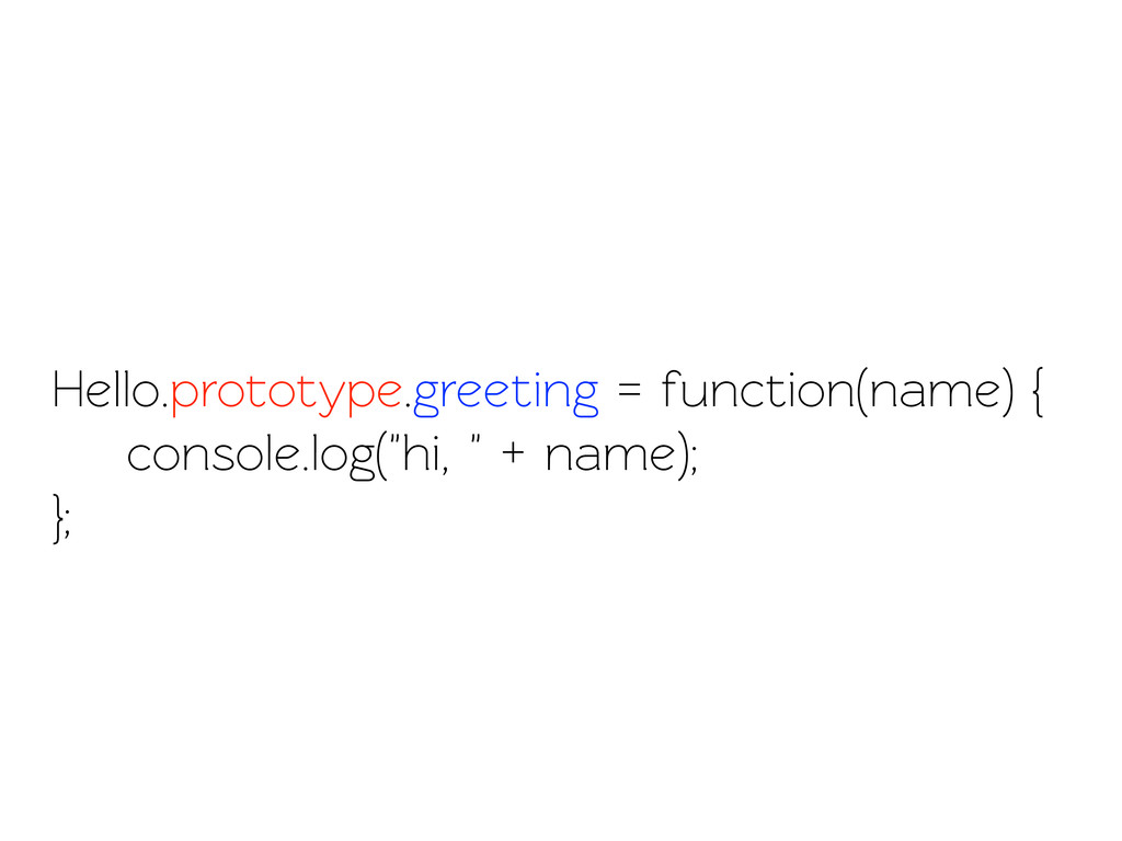 Hello.prootype.greeting = function(name) { con...