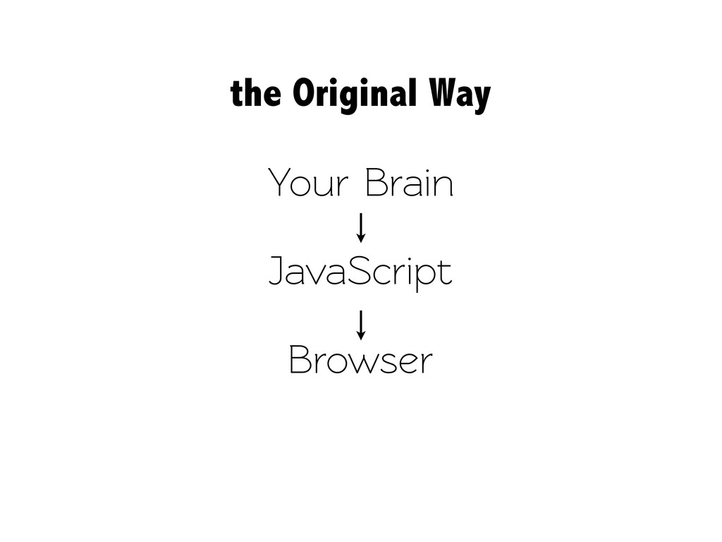 Your Brain JavaScript Browser the Original Way
