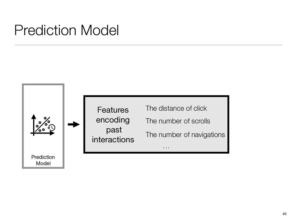 Prediction Model 40 Prediction Model The distan...