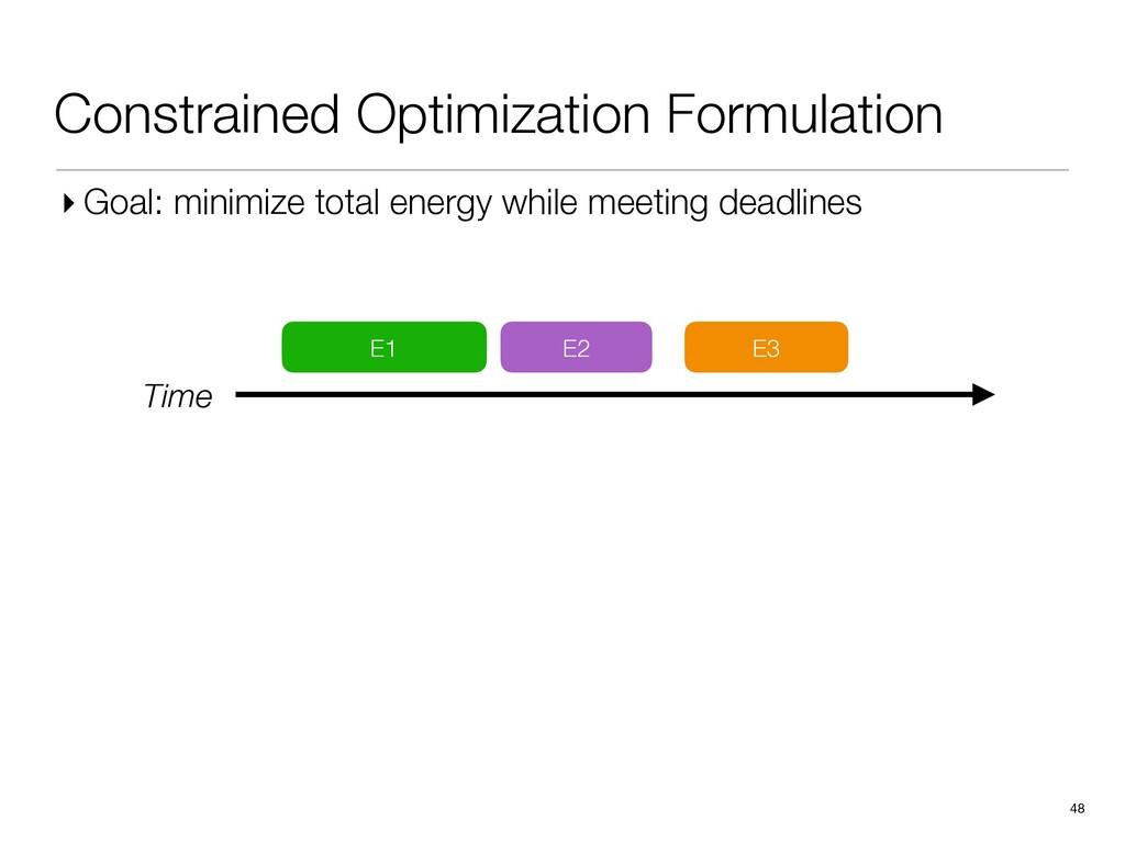 Constrained Optimization Formulation 48 E1 E2 E...