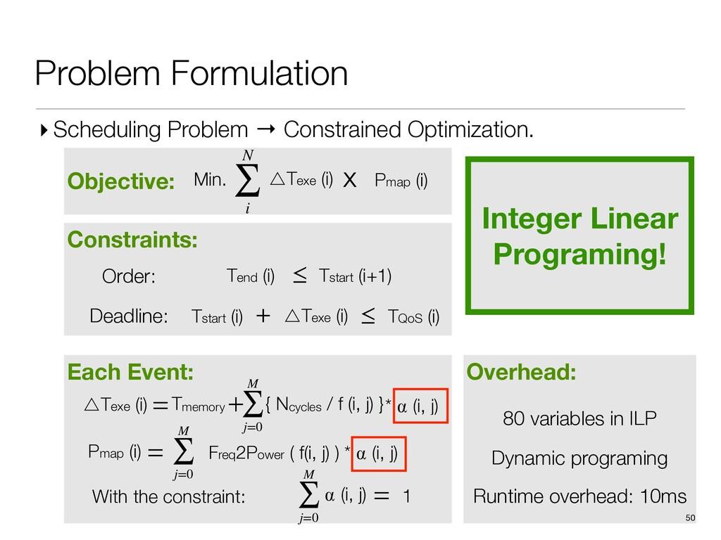 Overhead: Runtime overhead: 10ms 80 variables i...