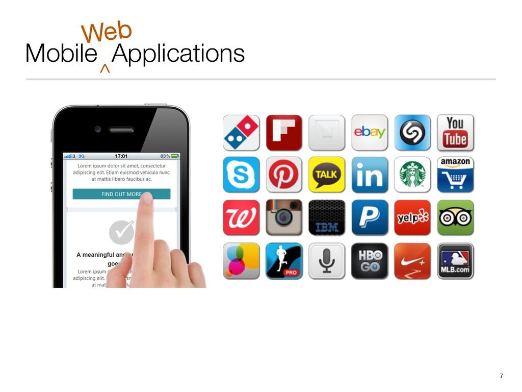 Mobile Applications 7 ^ Web