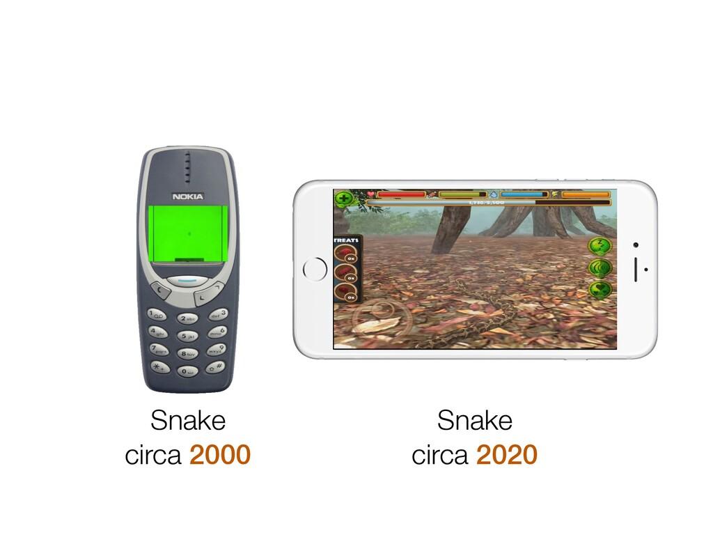 Snake circa 2000 Snake circa 2020