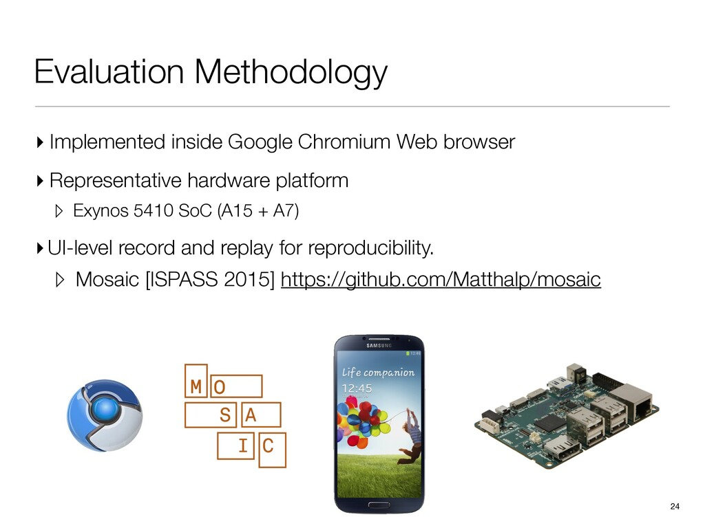 Evaluation Methodology ▸ Implemented inside Goo...