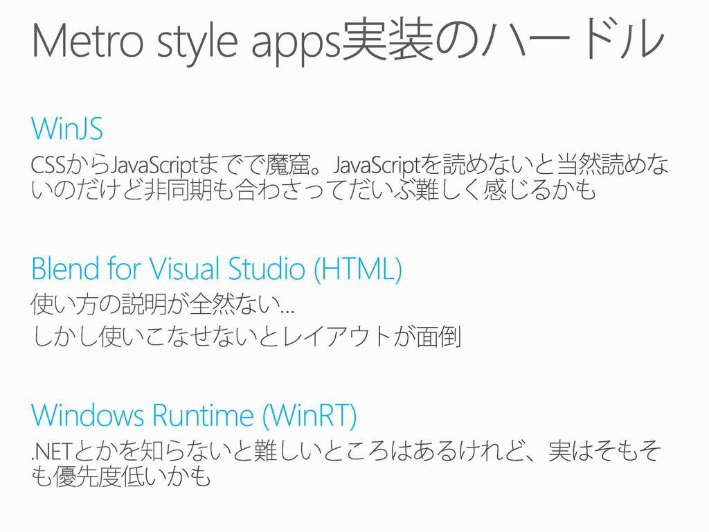 WinJS Blend for Visual Studio (HTML) Windows Ru...