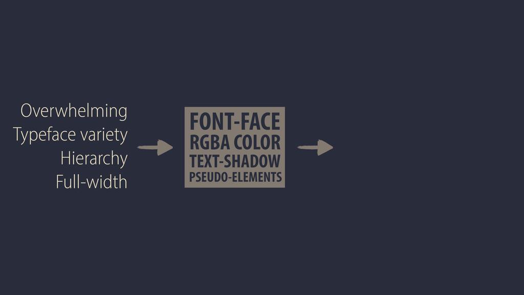 FONT-FACE TEXT-SHADOW RGBA COLOR PSEUDO-ELEMENT...