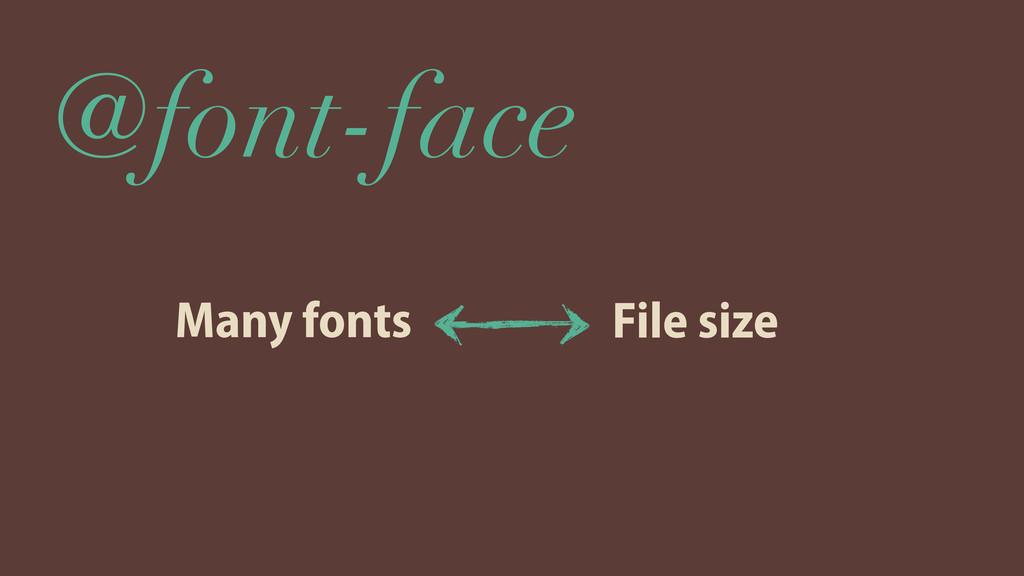 @font-face Many fonts File size