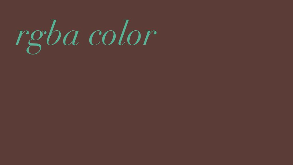 rgba color