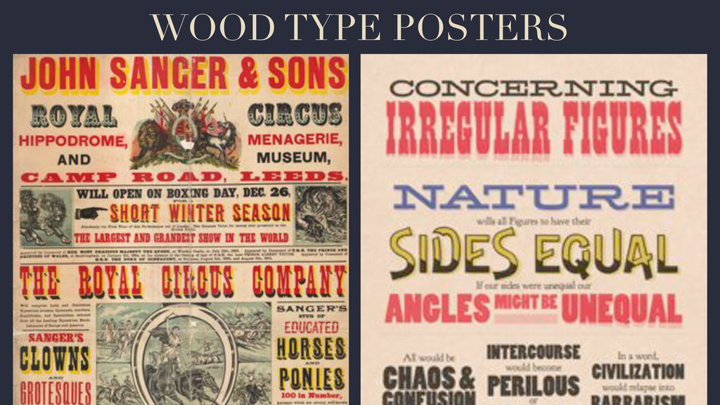 WOOD TYPE POSTERS