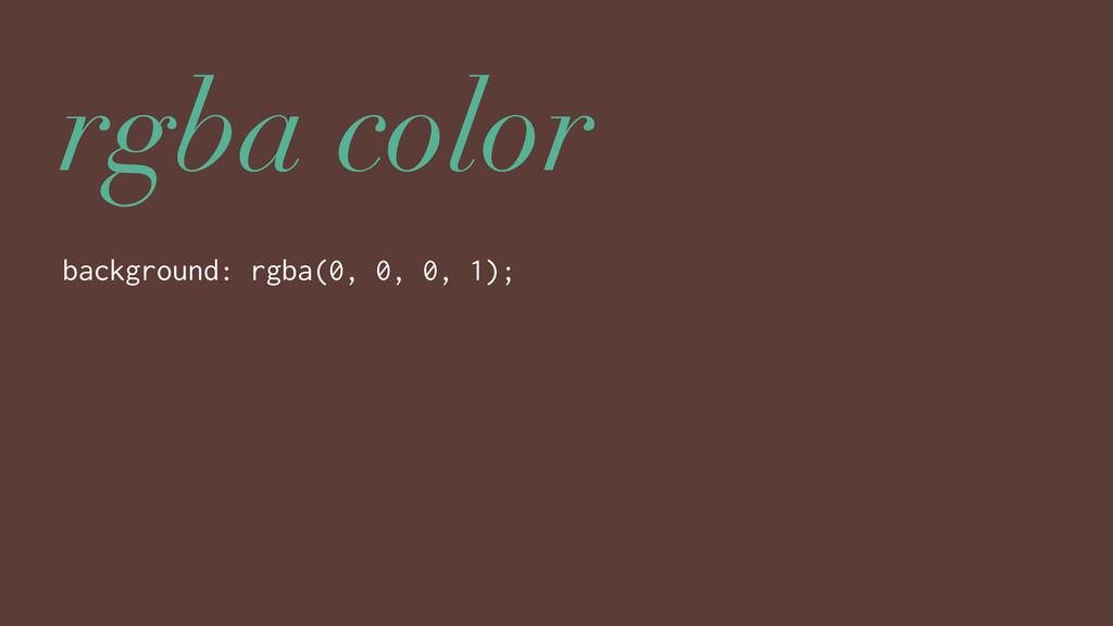 rgba color background: rgba(0, 0, 0, 1);