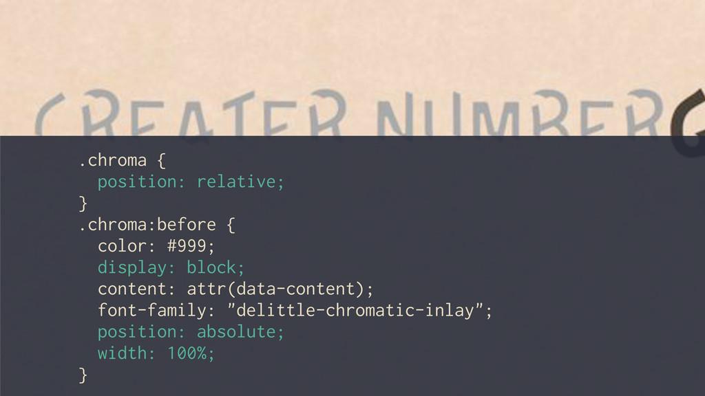 .chroma { position: relative; } .chroma:before ...