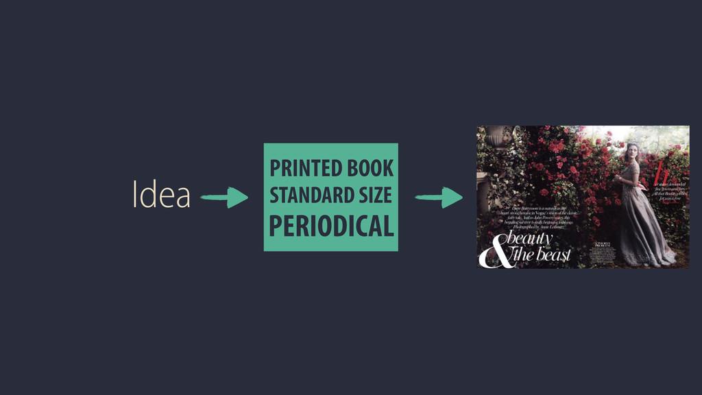 Idea PRINTED BOOK PERIODICAL STANDARD SIZE