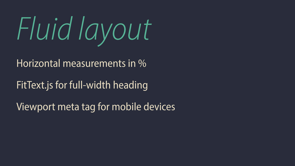 Fluid layout Horizontal measurements in % FitTe...